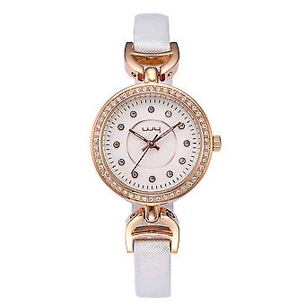 Ægte læder Quartz armbåndsur til kvinder