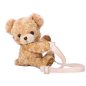 Cute Smile Bear, Soft Plush, Doll Handbag, Animal Shoulder Bag