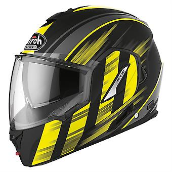 Airoh Rev19 Flip Ikon Modular Flip Up Motorcycle Helmet Yellow