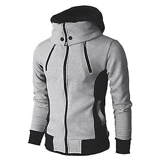 Zipper Men Jackets, Autumn, Winter, Casual Fleece Coats, Hooded Male Outwear
