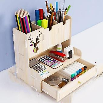 Creative Pen Pencil Holder, Receiving Box Desktop Organizer