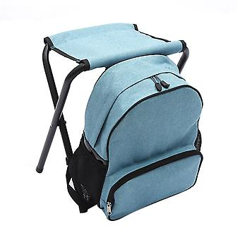 Light Blue OxfordCloth SteelPipe Multifunction Detachable Backpack Folding Chair