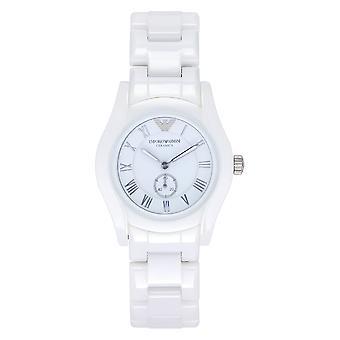 Armani Ar1405 Hvit Ceramica Ladies Watch