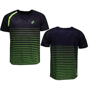 Asics Performance Stripe Herren Bewegung Trocken Training T-Shirt Top 121193 0245 A9C