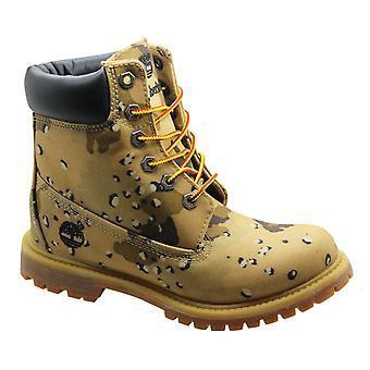 Timberland 6-calowy klin Damskie buty Beżowy kamuflaż kamuflaż koronki 8357B B83B