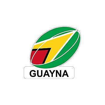 Pegatina coche pegatina bandera fútbol rugby guyana