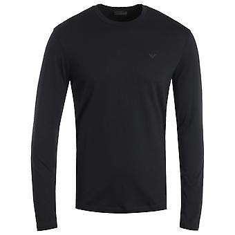 Emporio Armani Travel Essential Long Sleeve T-Shirt - Navy