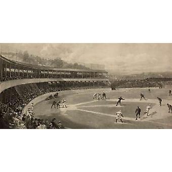 Basebol jogo Poster Print por esportes Vintage
