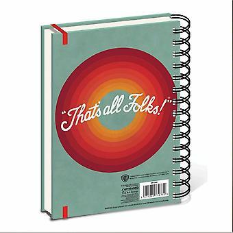 Looney Tunes Retro TV A5 Wirebound Notebook