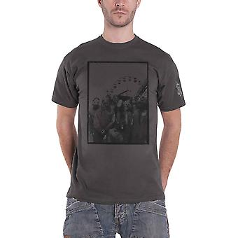 Slipknot T Shirt Amusement Park Band Logo new Official Mens Charcoal Grey