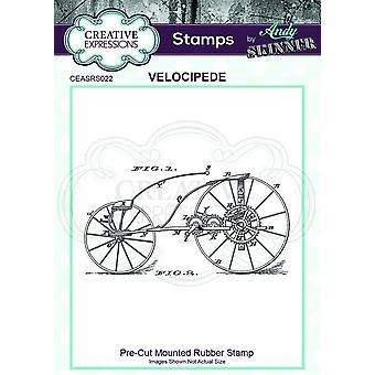 Expressões Criativas Andy Skinner Velocipede 3.0 em x 1.6 em Selo de Borracha