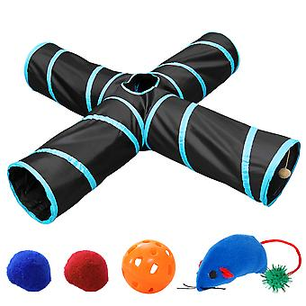 Ueetek Foldable Pets Toy Animal Tunnels Hamster Tube With Crinkle 65cm X 25cm