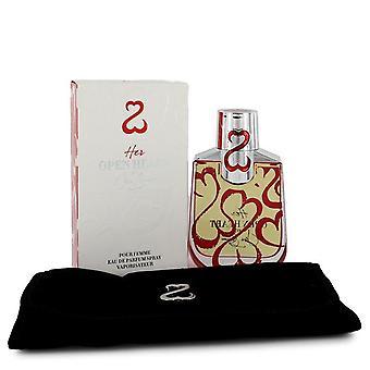 Her Open Heart Eau De Parfum Spray with Free Jewelry Roll By Jane Seymour 3.4 oz Eau De Parfum Spray with Free Jewelry Roll