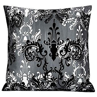 Elegant flocking pattern pillowcase Polyester square pillowcase for sofa and bed 45x45cm