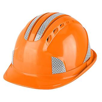 Worker Construction Site Protective Cap & Ventilate Abs Hard Hat Reflective