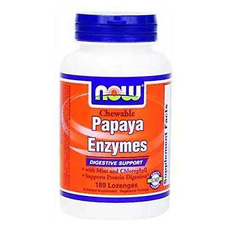 Now Foods Papaya Enzyme 180 Kapseln
