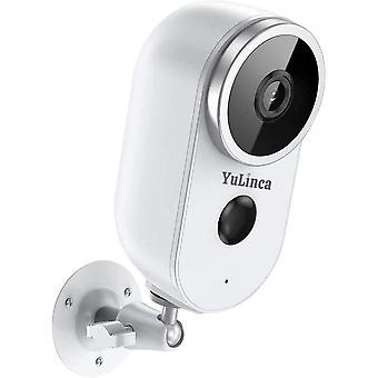 WiFi Batterie Kamera, WLAN Akku Outdoor berwachung Kamera, Kabellos Aussen 1080P Nachtsicht 2-Wege
