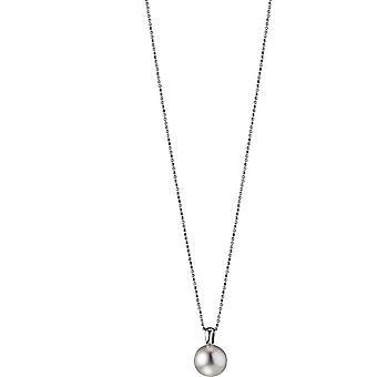 Collana di perle Adriana con pendente bianco acqua dolce 12-13 mm argento rodiato placcato 90 cm L17