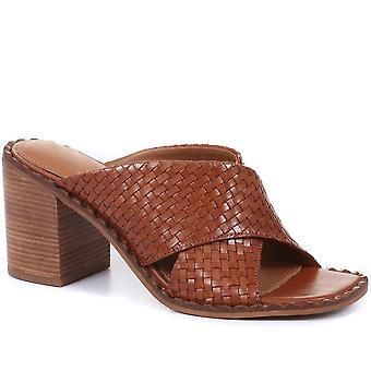 Jones Bootmaker mujeres Danika bloque tacón mulas sandalias