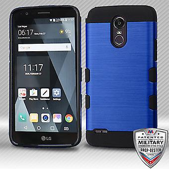 MYBAT Brushed TUFF Trooper Hybrid Case for Stylo 3 Plus,MP450,TP450,LS777 (Stylo 3) - Dark Blue/Black