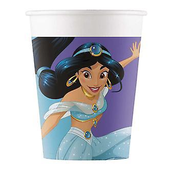 8 Gobelets en carton Princesses Disney Jour de Rêve 200 ml