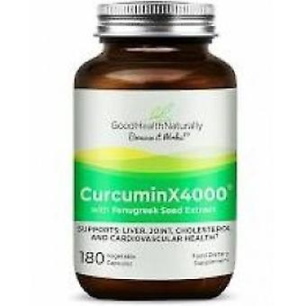 Good Health Naturally - Curcumin (Turmeric) X4000™ with Fenugreek Capsules 180 Capsule