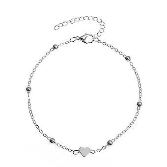 Simple Heart Female Anklets Foot Jewelry Bracelets