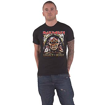 Iron Maiden T Shirt Legacy Aces Band Logo new Official Mens Black