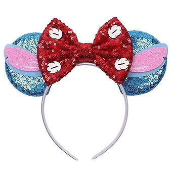 Girl Sequin Bow Headband For Party And Festival
