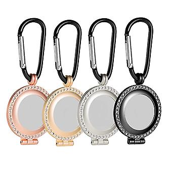 2Pcs shiny crystal case for airtags hang buckle anti lost keychain
