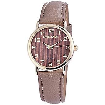 Excellanc Analog Watch Quartz Woman with Faux Leather Strap 1.95008E+11