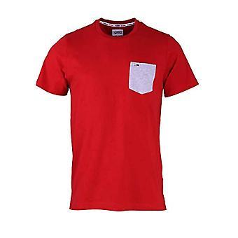 Tommy Jeans Tjm Contrast Pocket Tee T-Shirt, Deep Crimson, L Man