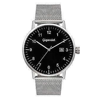Gigandet Minimalism Reloj para hombre Analógico Cuarzo Negro Plata G26-006