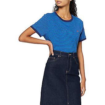 Lee Stripe Tee T-Shirt, Blue (Dipped Blue La), X-Small Woman