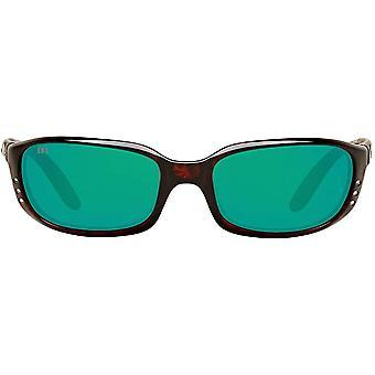 Costa Del Mar Mens Brine Polarized Oval Sunglasses - Tortoise/Copper Green Mirrored - 59 mm