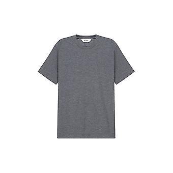 Z Zegna Miesten Tavallinen Harmaa T-paita