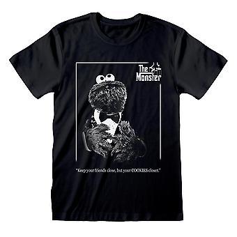 Sesame Street Womens/Ladies Godfather Cookie Monster Boyfriend T-Shirt