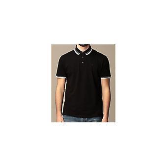 Emporio Armani Cotton Black Polo Shirt