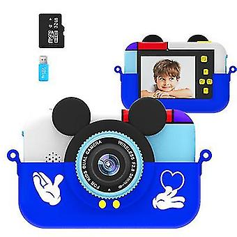 Blue mickey mouse children's cartoon digital camera, handheld sports high-definition video camera az22086