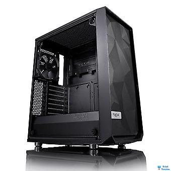 Fractal Design Meshify C Blackout Midi Tower Case - Black Tempered Glass
