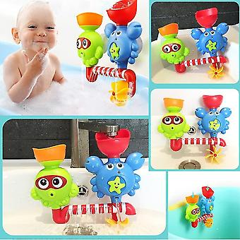 Baby bath toy interactive bathtub toys kids waterfall water shower station toy for kids & toddlers 18 months & up dt6052