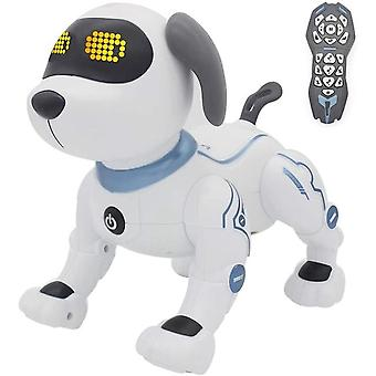 Electronic pets rc animal programmable robot dog voice remote control toy puppy music song for kids birthday gift