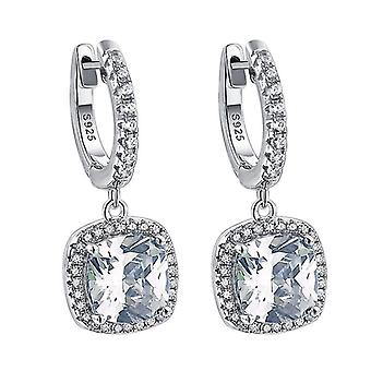 Earrings S925 Inlaid Zircon Micro Inlaid Artificial Diamond Jewelry For Wedding
