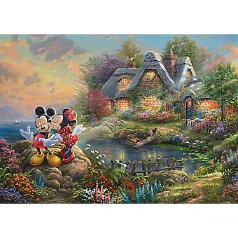 Schmidt Kinkade Disney Mickey & Minnie Mouse Sweetheart Cove Pussel (1000 stycken)