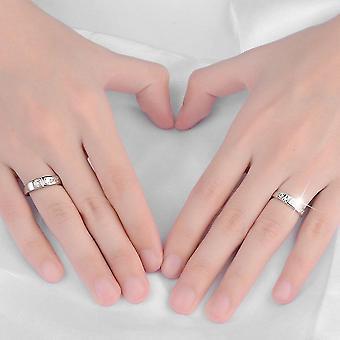 Zircon Rings 1 Paire 30% Sterling Silver Forever Love Bijoux sculptés Non décolorés