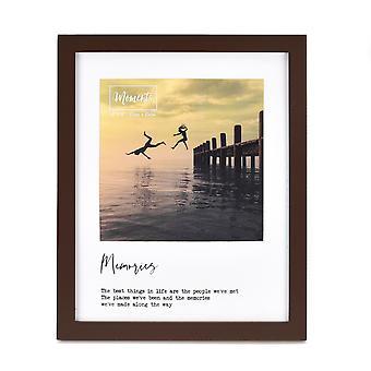 """Moments Fotorahmen aus Holz mit Halterung 6"""" x 6"""" - Erinnerungen"""