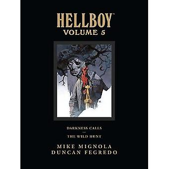 Hellboy Library Edition Volume 5 Darkness Calls And The Wild Hunt by Mike Mignola