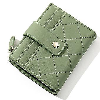 Ultra-thin multi-card slot pu card holder simple short ladies coin purse(Color-3)