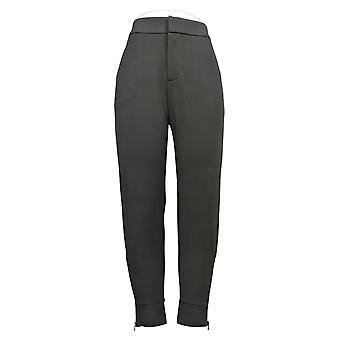 Lisa Rinna Collection Women's Pants Ponte with Ankle Detail Gray A345859