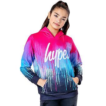 Hype Bambini / Bambini Spray Drips Pullover Felpa con cappuccio